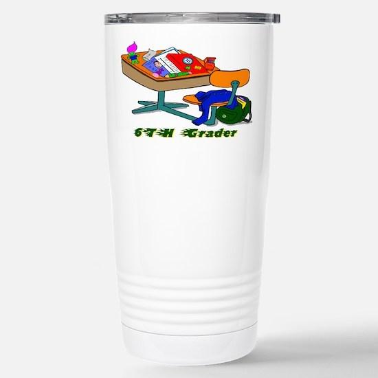 6TH Grader Desk Stainless Steel Travel Mug