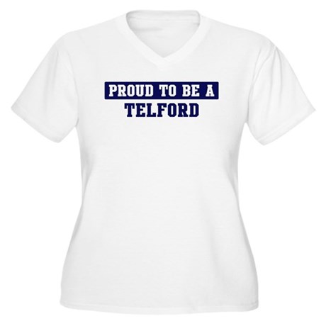 Proud to be Telford Women's Plus Size V-Neck T-Shi