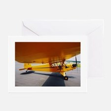 Piper Cub From the Side Greeting Cards (Package of