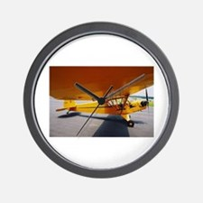Piper Cub From the Side Wall Clock