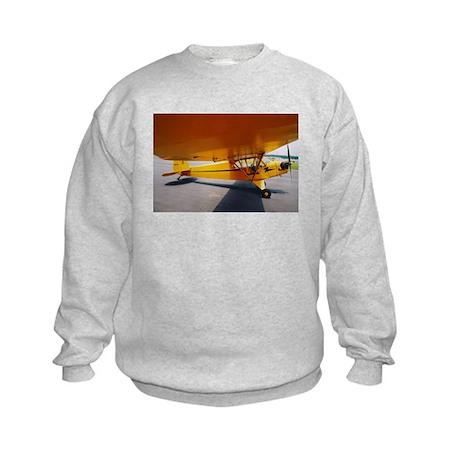 Piper Cub From the Side Kids Sweatshirt