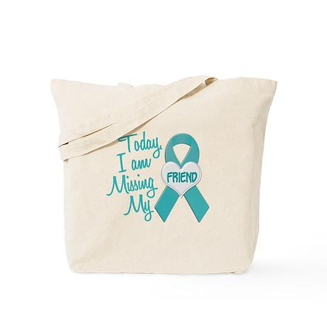 Missing My Friend 1 TEAL Tote Bag