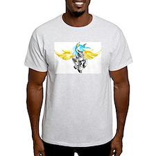 3D Pegasus Ash Grey T-Shirt
