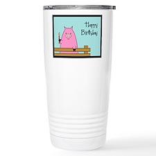 Birthday Pig Ceramic Travel Mug