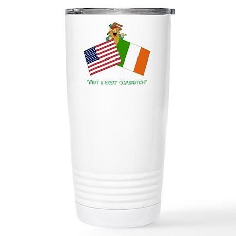 IRISH AMERICAN Stainless Steel Travel Mug