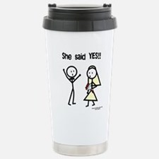 She Said Yes! Travel Mug