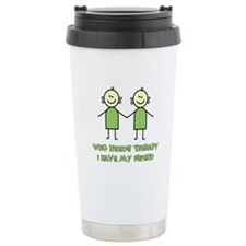 Therapy For Friends Travel Mug