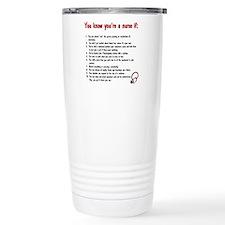 You Know You're A Nurse If... Thermos Mug