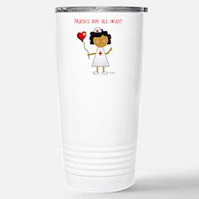 Nurses are all heart Travel Mug
