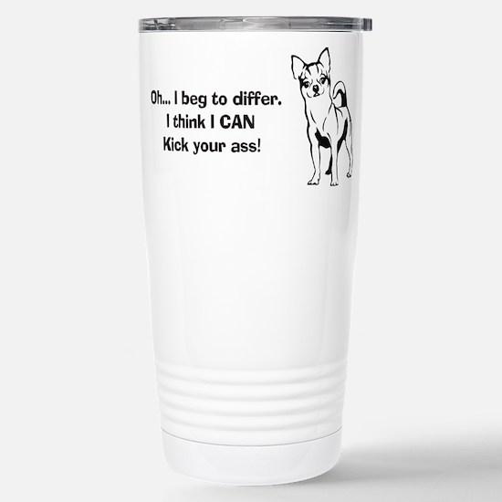 Chihuahuas Kick Butt Stainless Steel Travel Mug