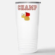 Beer Pong Champ Stainless Steel Travel Mug