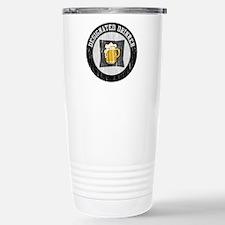 Designated Drinker Black Travel Mug