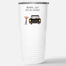 CAUTION NEW LICENSE Travel Mug