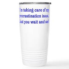 Procrastination Travel Mug