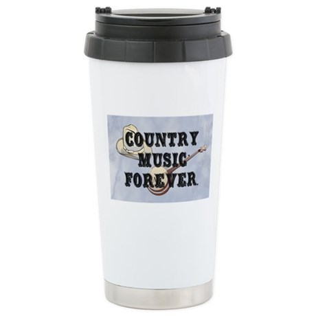 Country Music Forever Stainless Steel Travel Mug