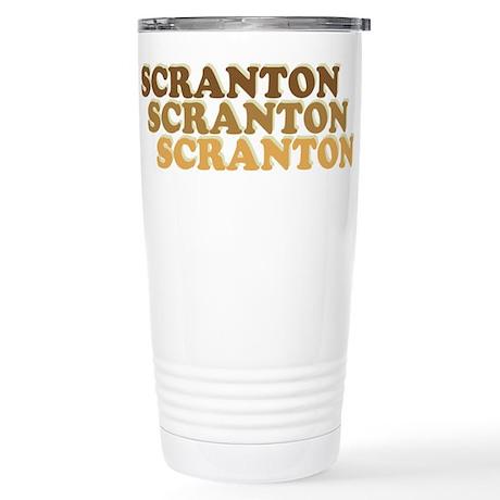Scranton Retro Stainless Steel Travel Mug