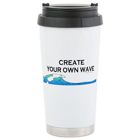 Create Your Own Wave Stainless Steel Travel Mug By
