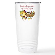 Scrapbooking Thermos Mug