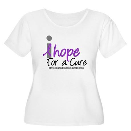Alzheimer's Hope Women's Plus Size Scoop Neck T-Sh
