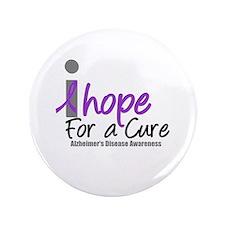 """Alzheimer's Hope 3.5"""" Button"""