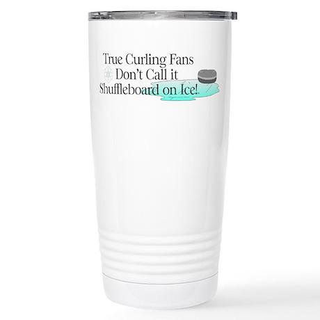 TOP Curling Slogan Stainless Steel Travel Mug