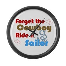Ride A Sailor Large Wall Clock