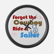 Ride A Sailor Large Wall Clock