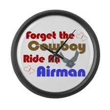 Ride An Airman Large Wall Clock