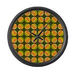 Mod Polka Dot Retro Large Wall Clock