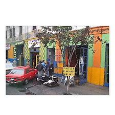 Funny Lotus orange car men Postcards (Package of 8)