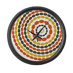 Mustard & Orange Mod Large Wall Clock