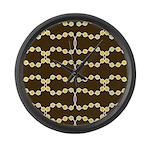 Retro Dots Art Large Wall Clock