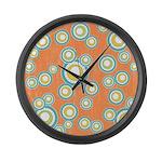 Retro Bulls Eye Spots Large Wall Clock