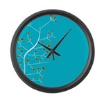 Contemporary Retro Floral Large Wall Clock