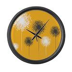 Modern Dandelion Art Large Wall Clock
