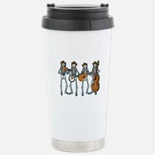 Cowboy Music Skeletons Stainless Steel Travel Mug