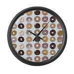 Lots of Donuts Large Wall Clock