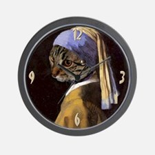 Cat VERMEER EARRING Wall Clock