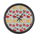 Modern Fruit Art Large Wall Clock
