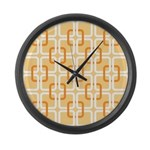 Retro Abstract Art Large Wall Clock