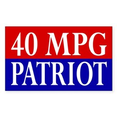 40 MPG Patriot (bumper sticker)