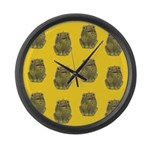 Vintage Toy Frog Art Large Wall Clock