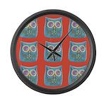 Toy Modern Owl Art Large Wall Clock