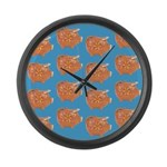 Vintage Toy Pig Art Large Wall Clock