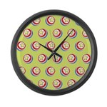 Toy Ball Vintage Print Large Wall Clock