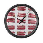 Anglophile Vintage Bus Large Wall Clock
