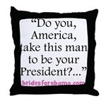 Obama bride ring bearer pillow
