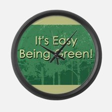 Easy Being Green Large Wall Clock