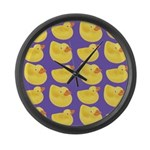 Toy Rubber Duck Pattern Large Wall Clock