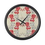 Rat Chinese New Year Art Large Wall Clock